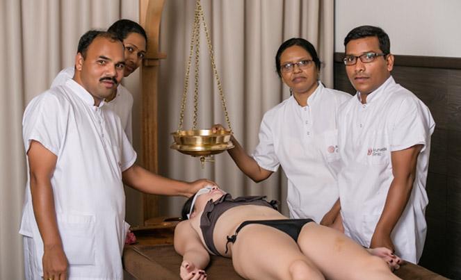 Mahasneha Dhara therapy  Ayurveda Clinic Bansko