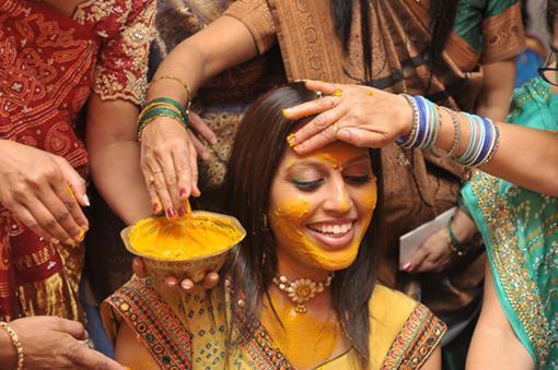 Haridra rituals in India